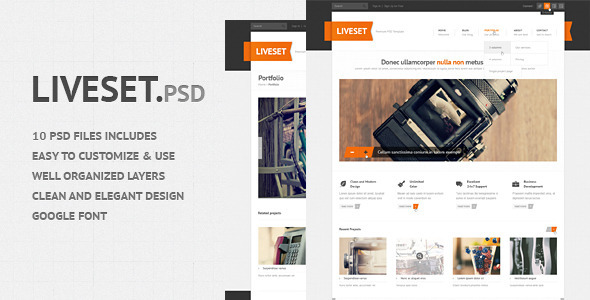 ThemeForest Liveset Modern and Clean PSD Theme 2717821