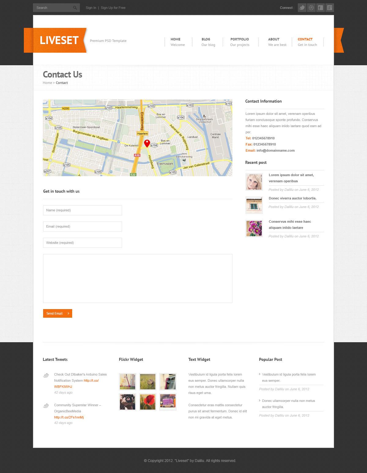 Liveset - Modern and Clean PSD Theme