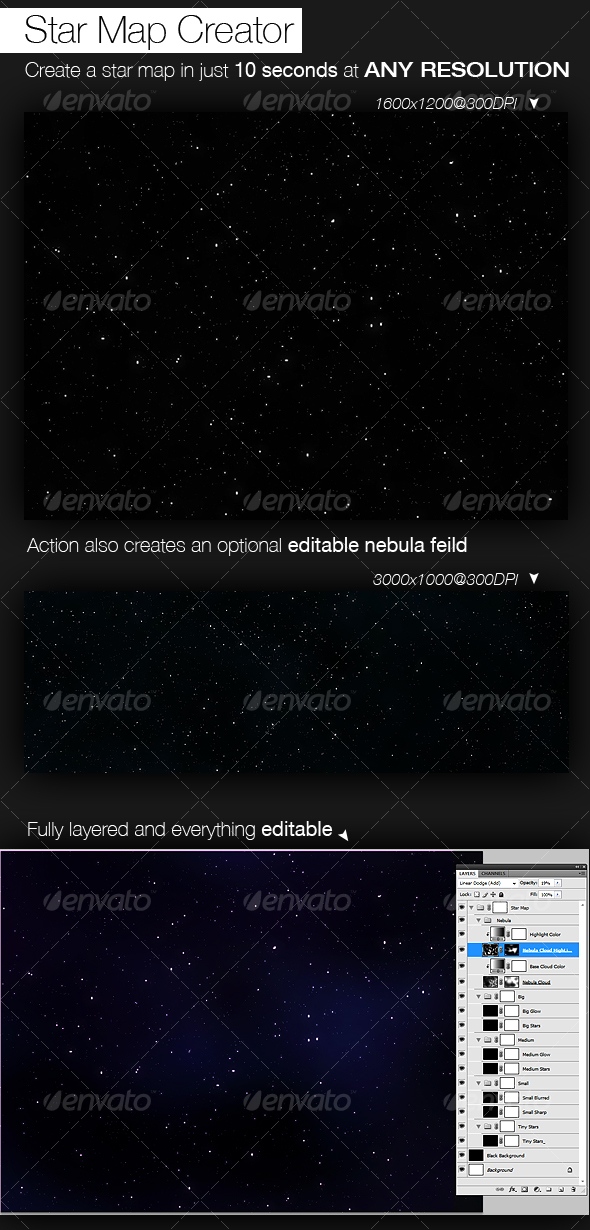 Star Map Creator - Photoshop Add-ons