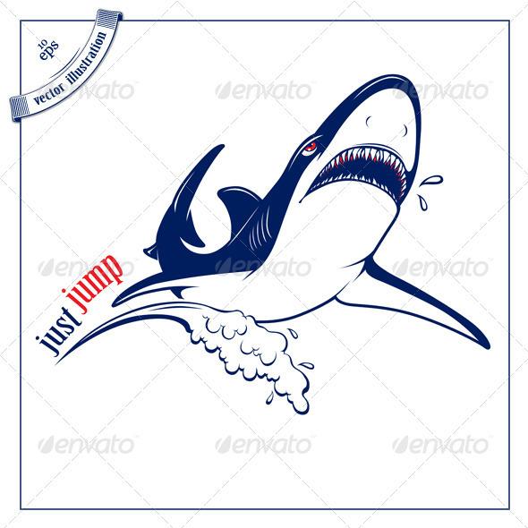 Cartoon Shark Jump - Animals Characters
