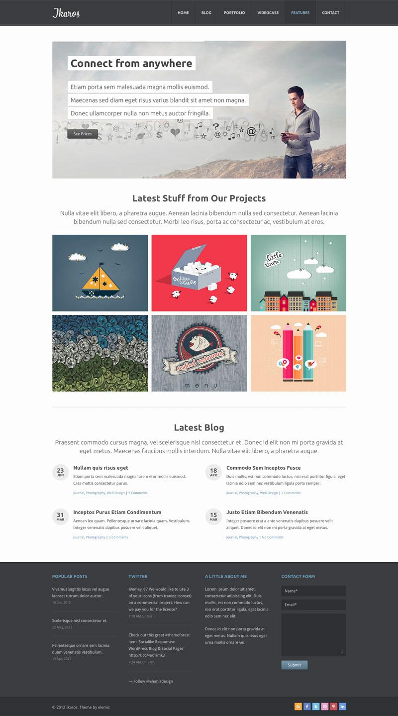 Ikaros - Responsive HTML Business & Portfolio