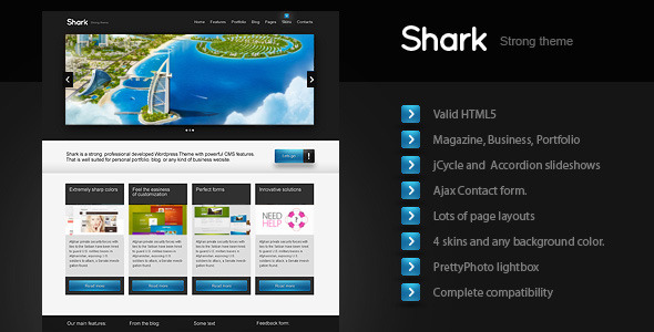 Shark – Business, Magazine, Portfolio (Html CSS)