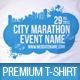 City Marathon Event Premium T-Shirt Template - GraphicRiver Item for Sale