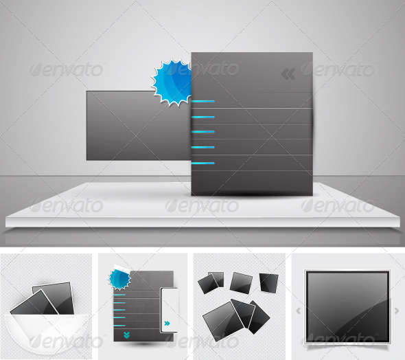 Glossy Web Promotion Elements - Commercial / Shopping Conceptual