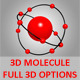 3D Molecule For PS CS5, Full 3D Options - GraphicRiver Item for Sale