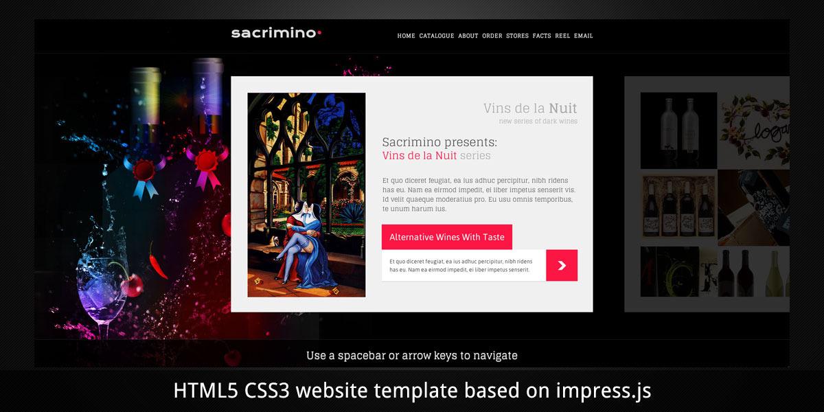 Vins de la Nuit. Website. Presentation. Different