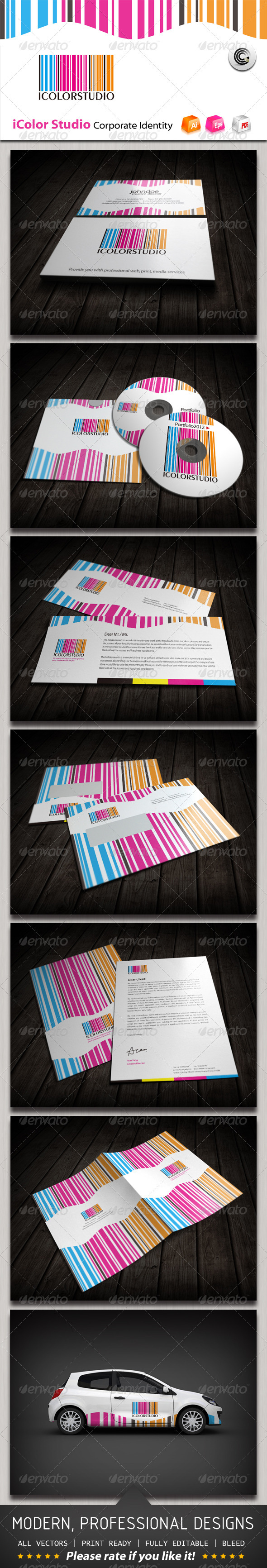 IColor Studio Corporate Identity - Stationery Print Templates