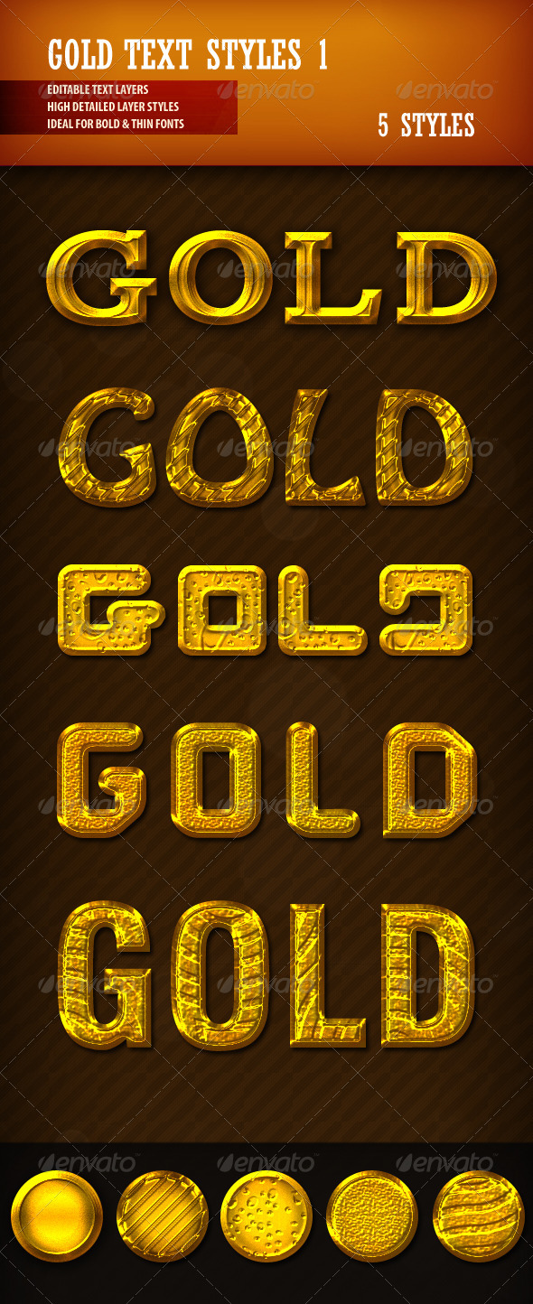 GraphicRiver Gold Text Styles 1 2704621