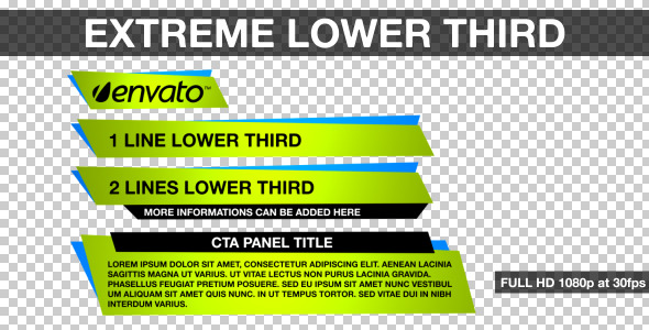 VideoHive Extreme Lower Third 2722179