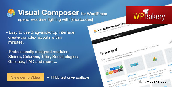 Visual Composer for WordPress - CodeCanyon Item for Sale