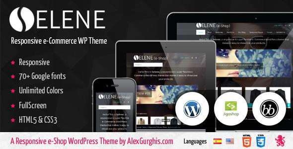 Selene - Tema e-commerce Responsive de Pantalla Completa para WodPress