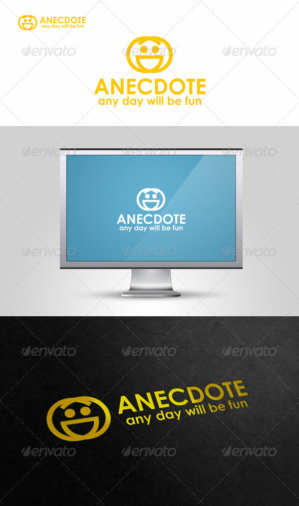 Anecdote - Funny Face Logo - Symbols Logo Templates