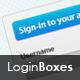 Slick Login Boxes
