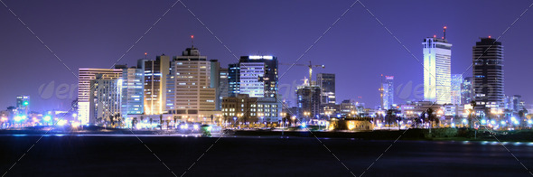 Tel Aviv Panorama - Stock Photo - Images