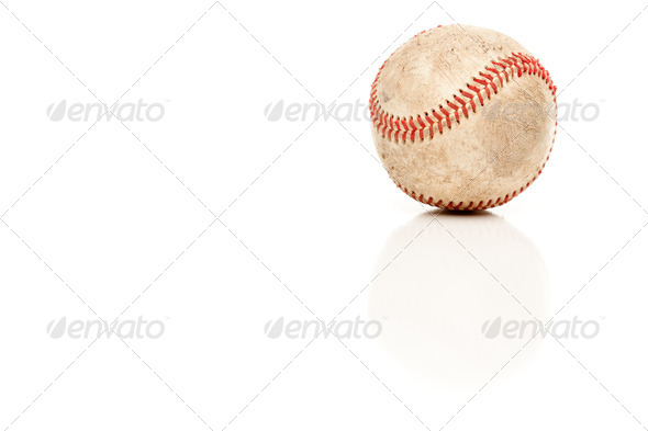 Single Baseball Isolated on White - Stock Photo - Images