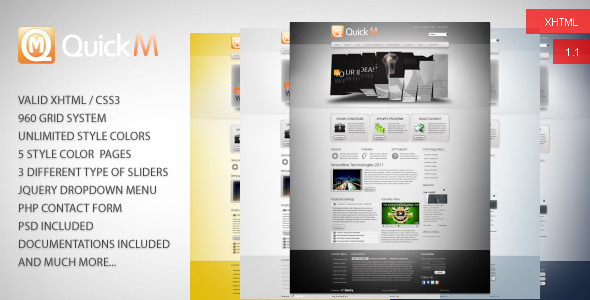 QuickM HTML Template - Corporate Site Templates