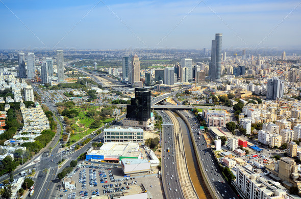 Tel Aviv Skyline - Stock Photo - Images