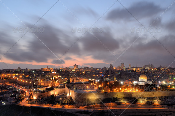 Jerusalem Skyline - Stock Photo - Images