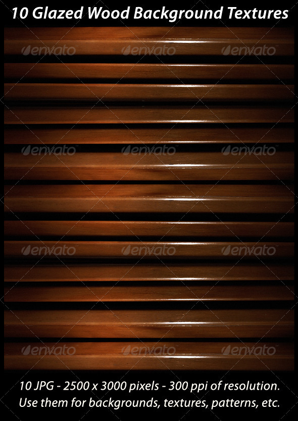 10 Glazed Wood Background Textures