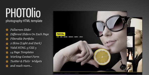 Photolio - Photography / Portfolio HTML Template