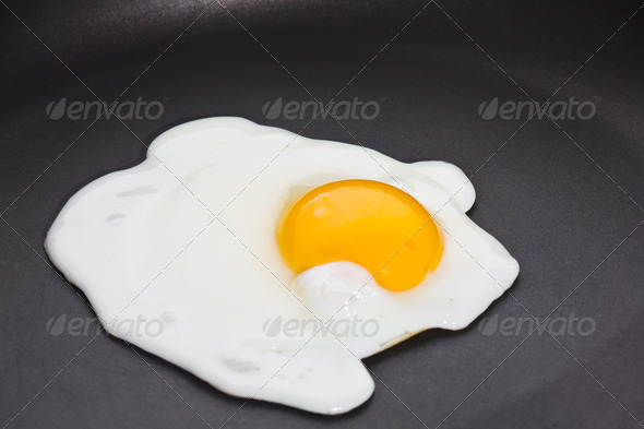 Fried egg, sunny side up - Stock Photo - Images