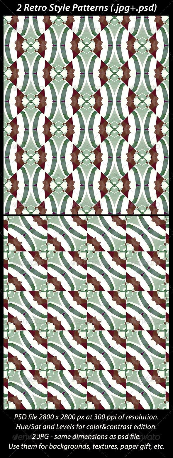 2 Retro Style Patterns - Patterns Backgrounds