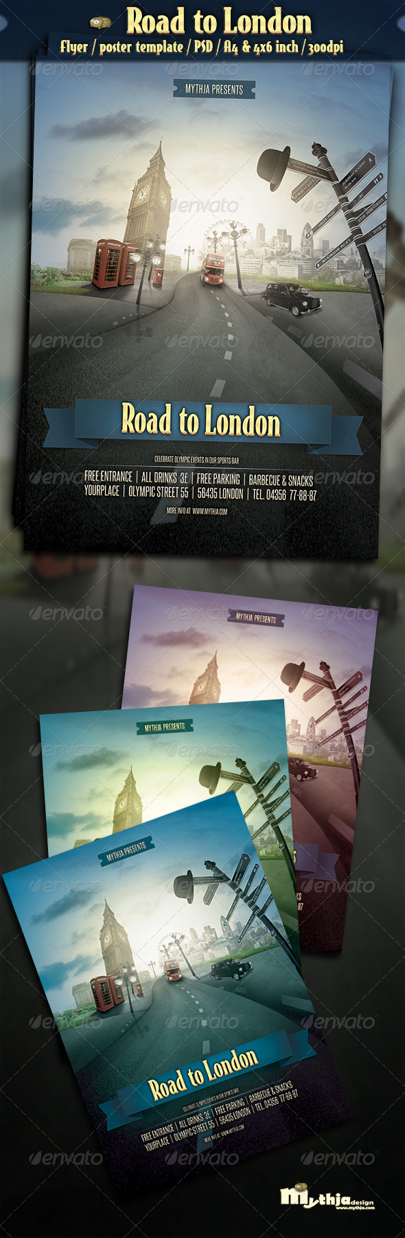 GraphicRiver Road to London Event Flyer Poster Template 2708284