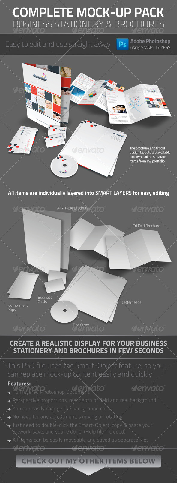 Business Stationery Mock-up - Stationery Print