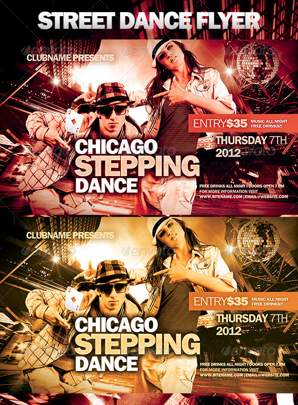 Street Dance Flyer - Clubs & Parties Events