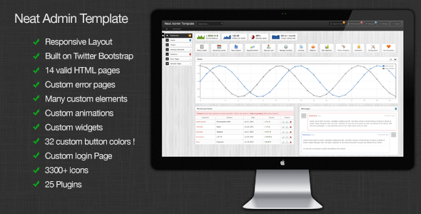 ThemeForest Neat Admin Responsive Admin Template 2725566