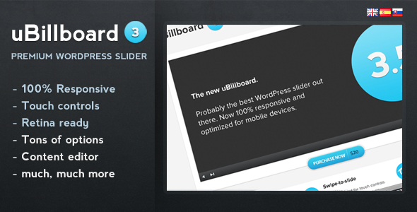 uBillboard - superior del Colissa per a Wordpress - WorldWideScripts.net article en venda