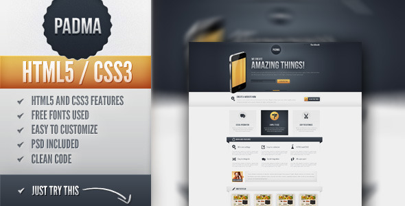 ThemeForest Padma Yet another Landing Page 2715195