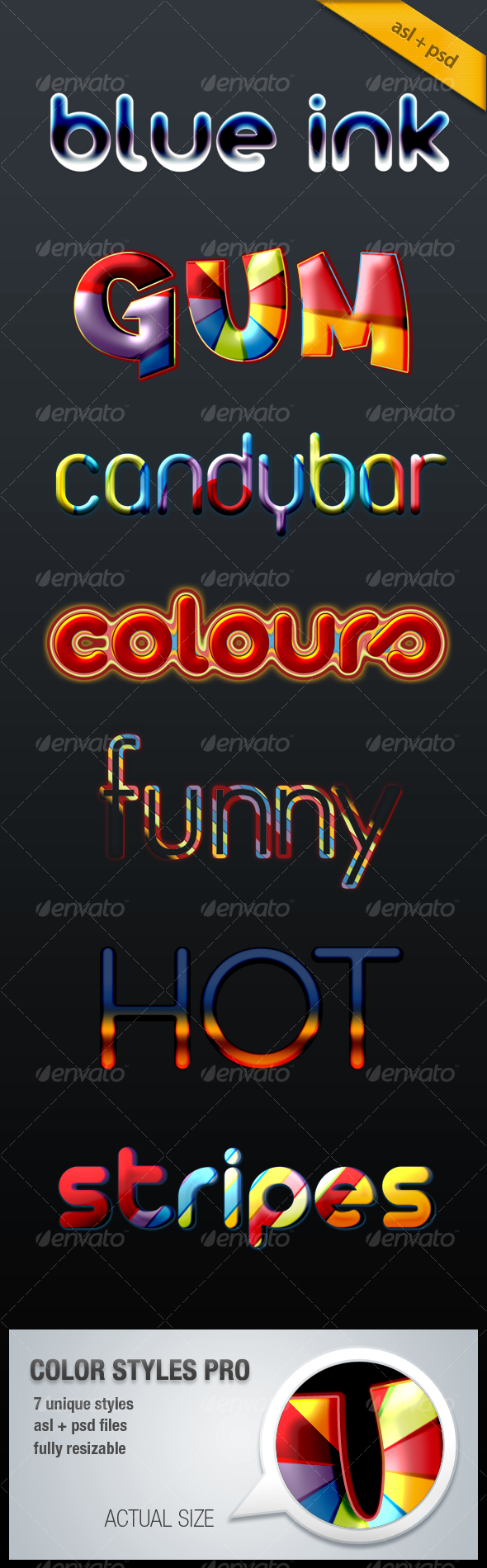 Color Styles Pro - Text Effects Styles