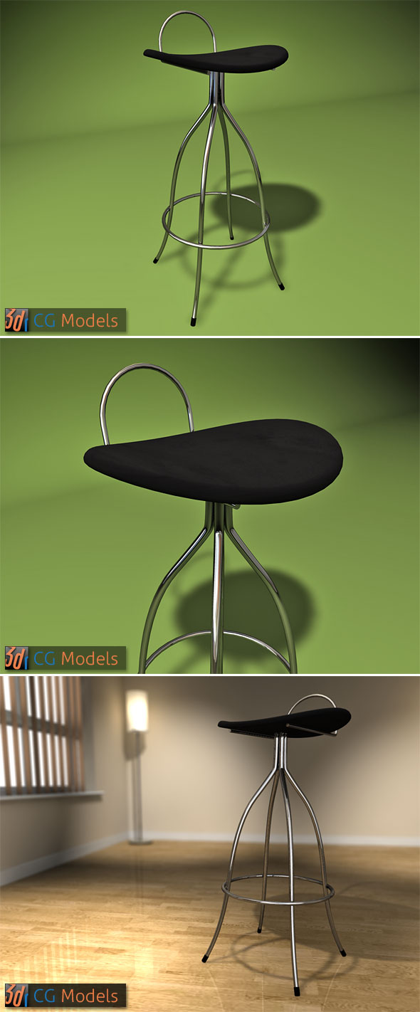 3DOcean Contemporary Stool 03 98648