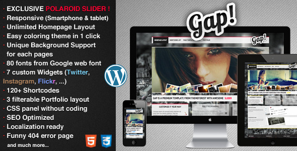 Gap - Responsive Portfolio and Business Theme