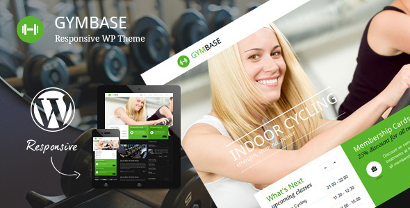 GymBase Responsive Gym Fitness WordPress Theme