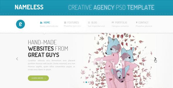 ThemeForest Nameless Creative Agency PSD Template 2732267