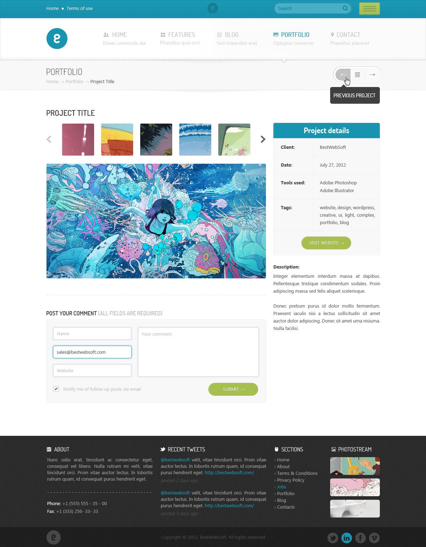 Nameless - Creative Agency PSD Template