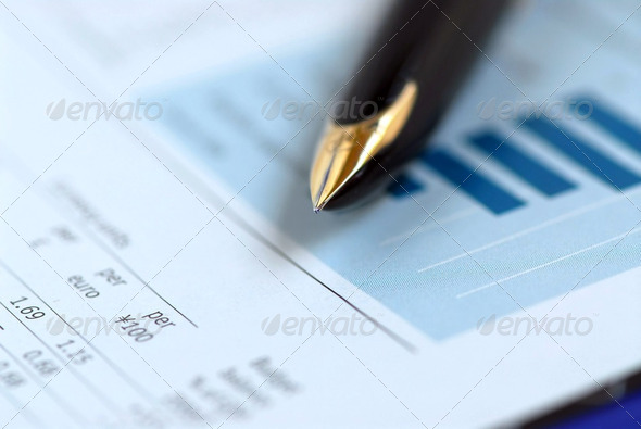 Pen Finance Chart - Stock Photo - Images