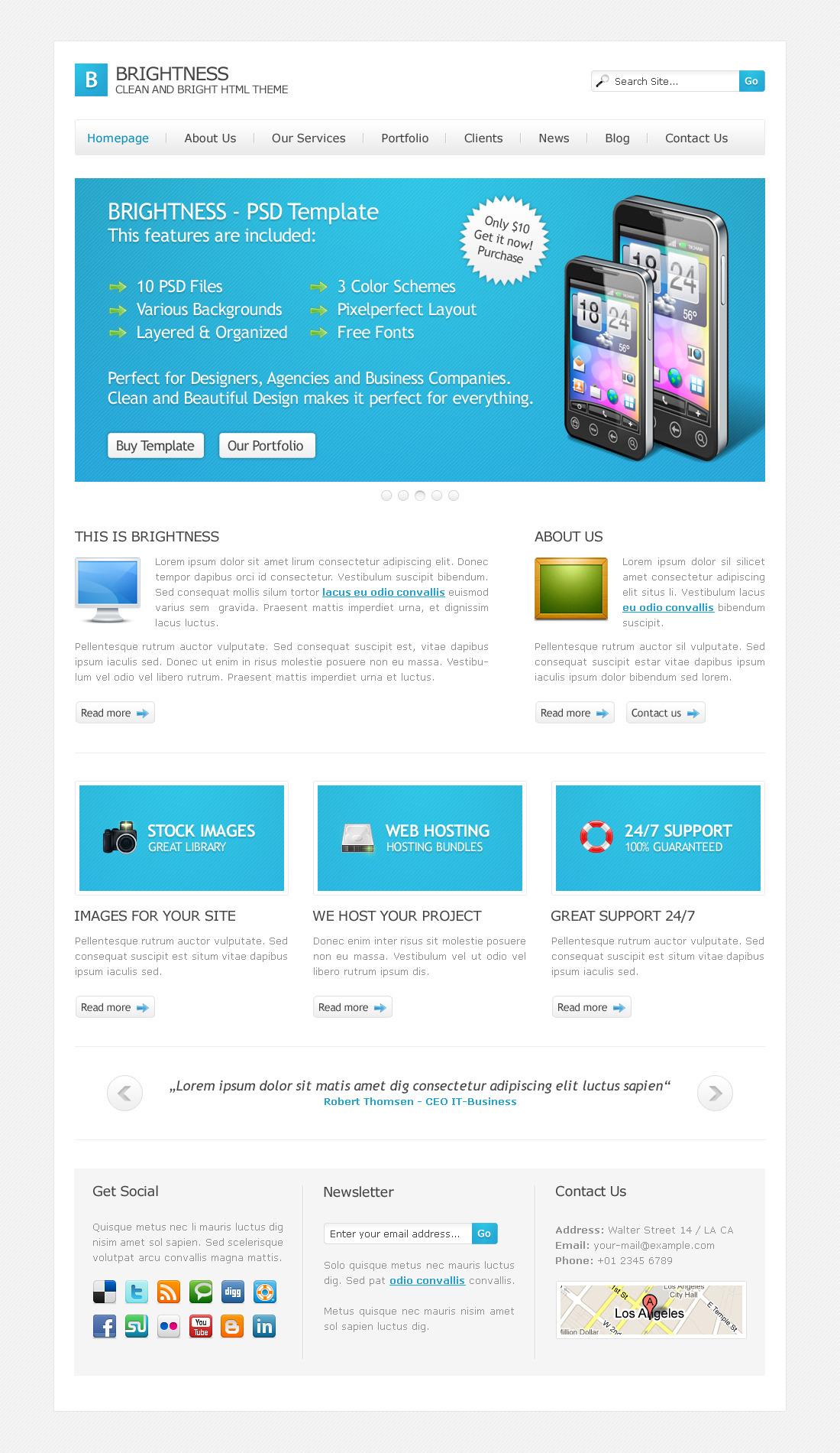 Brightness HTML Theme