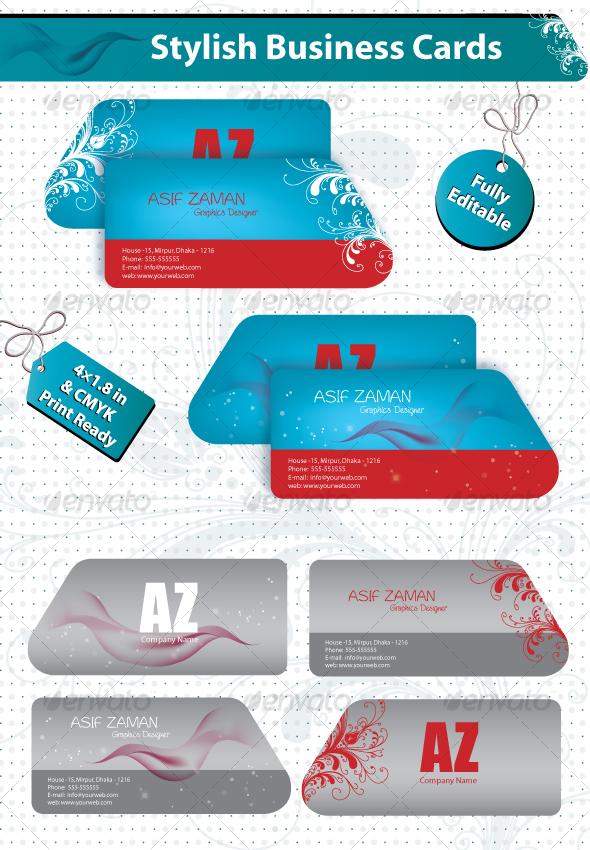 Stylish Business Cards - Business Cards Print Templates