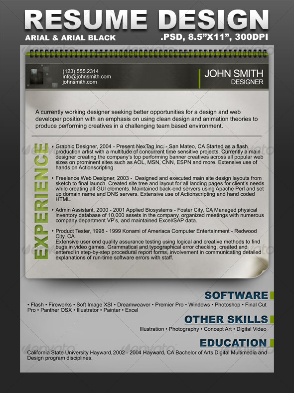 GraphicRiver Creative Resume Template 97806