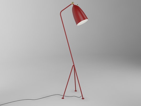 Grasshopper floor lamp - Greta Grossman - 3DOcean Item for Sale