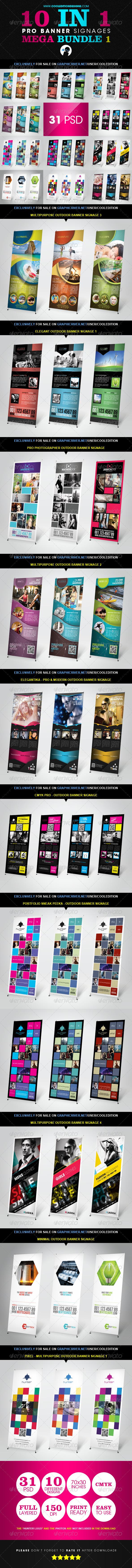 GraphicRiver 10 In 1 Pro Banner Signages Mega Bundle 1 2736211
