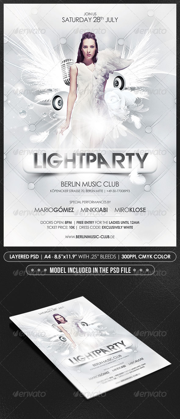White Party Poster/Flyer - Events Flyers