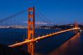 Golden Gate bridge by night in San Francisco