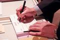 businessman sign signature
