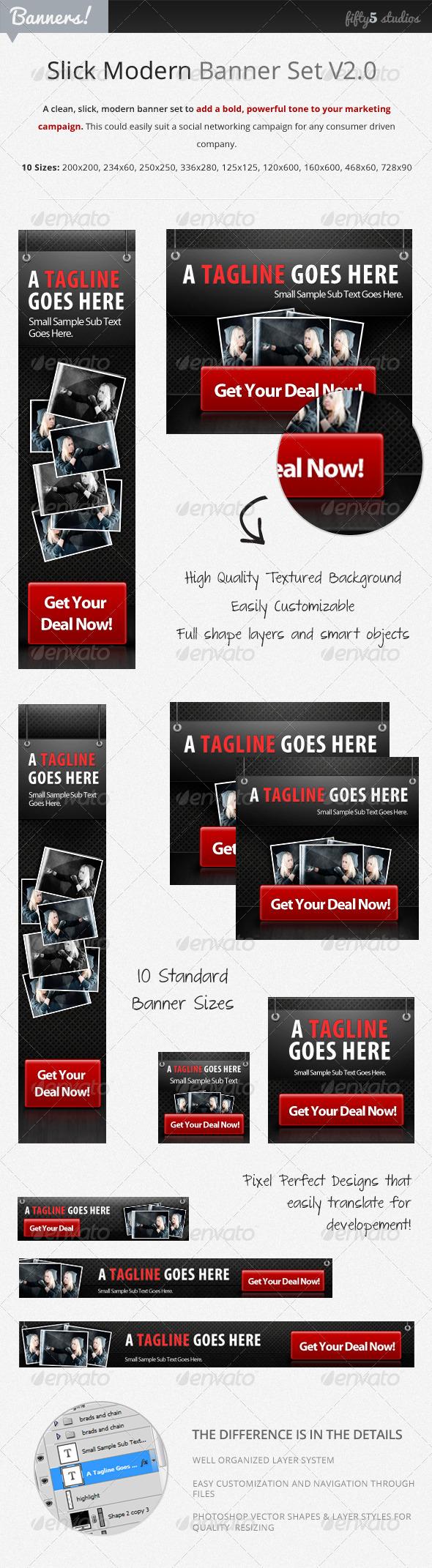 GraphicRiver Slick Modern Banner Set v2.0 2736771