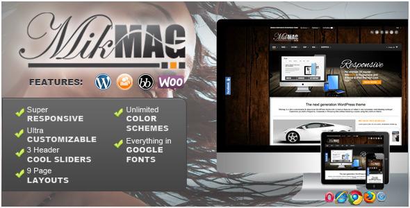 MikMag - Tema Responsive, Buddypress y Woocommerce para WordPress Todo en 1