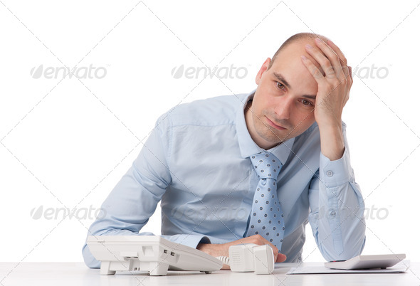 business man with problems - Stock Photo - Images